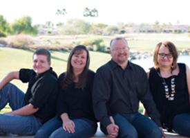 Pastor Todd, Kara, Ashley and Timothy Parish